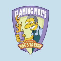 Awesome 'Flaming+Moe%27s' design on TeePublic!