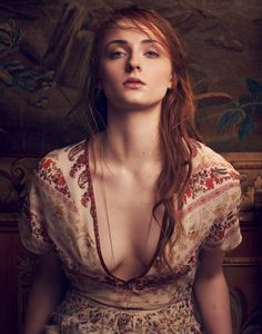 Actress Sophie Turner stuns in an Alexander McQueen dress on the April 14, 2016, cover of The Edit. Photographed by Dima Hohlov, the redhead star of 'Game of Thrones' wears a floral print silk gown with ruffled detail. Inside the magazine, stylist Miranda Almond dresses Sophie in even more romantic looks. From Erdem's tiered ruffles …