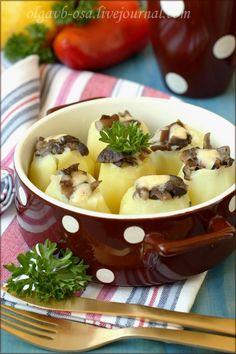 Картофель фаршированный в пароварке