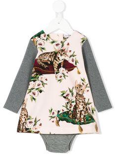01260cb8d Dolce & Gabbana Kids Cat Print Dress - Farfetch. Little OnesDress UpGirl ...