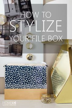 How To Stylize a File Box - I have this exact clear file box from Target.  I might try to stylize it like this.