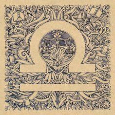 Libra ♎ Glyph | Astronomy Art Print | Zodiac Sign Symbol | Balance