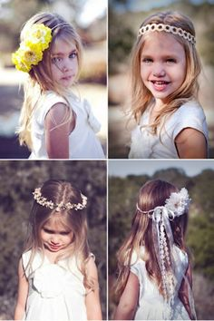 Pretty flower hair accessories for girls - Elisa your girls are going to be my flower girls! Flower Girls, Flower Girl Dresses, Flower Crowns, Flower Children, Crown Flower, Flowers In Hair, Pretty Flowers, Style Hippie Chic, Girl Style