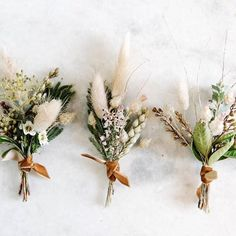 : Neutral and structured boutonniere, one of our most popular floral details . - Neutral and structured boutonniere, one of our most popular floral details! – wedding with pampas - Fall Wedding Flowers, Fall Flowers, Floral Wedding, Wedding Bouquets, Wedding Greenery, Boho Flowers, Fall Bouquets, Autumn Wedding Bouquet, Simple Bridesmaid Bouquets
