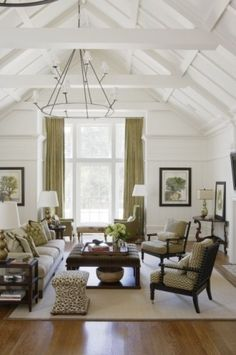 Awesome Ceiling - Love the lighting, the height, and the windows