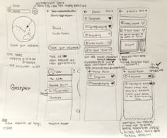Grasper : Wireframe Sketch 1