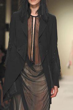 """darkclothes: """" geiravor: """" Ann Demeulemeester SS 2012 """" black clothes """""""