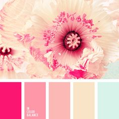 *******FAVE******** color palette insp LL Pastel shades of pink shades and light blue are complemented with bright cold pink. This palette is perfect for bedroom decoration, while replaceable eleme. Pink Color Schemes, Colour Pallette, Color Combos, Color Balance, Balance Design, Design Seeds, Color Swatches, Color Theory, Spring Colors