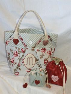picture only  - love the striped fabric on big one and the little ones are cute too - different details.