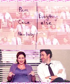The sweet things that Jim does to reassure his wife and make her feel better about things are really quite simple and honestly, any man with a brain can do them but there just aren't many men like Jim Halpert that are in tune with their wives and really care about how she feels. Just another thing that shows how PERFECT they are together. Jim+Pam=Soul Mates
