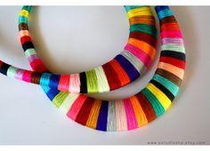 Statement necklace multicolor necklace colorful by estudioshop