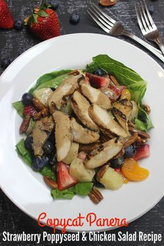 This is one of my favorite Panera Bread Recipes and I'm sure excited to share this copycat version with you! If you love it, make sure to SHARE with your friends and . Vegetable Dishes, Vegetable Recipes, Vegetarian Recipes, Healthy Recipes, Meal Recipes, Poppyseed Salad Dressing, Salad Dressing Recipes, Salad Dressings, Poppy Seed Chicken Salad Recipe