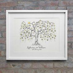 Willow Wedding Fingerprint Tree