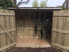 Vertical Bike Shed - Brighton Bike Sheds Bicycle Storage Shed, Vertical Bike Storage, Outdoor Storage Sheds, Outdoor Sheds, Shed Storage, Backyard Storage, Backyard Sheds, Garage Storage, Backyard Patio