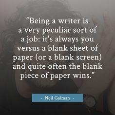 Neil Gaiman writing quote