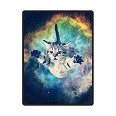 """cat bath tube - HommomH 60\"""" x 80\"""" Soft Blanket Air Conditioning Galaxy Space Cat ** Check this awesome product by going to the link at the image. (This is an affiliate link) #CatBath"""