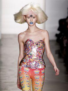 wowwwwww. Trapper Keeper Fashion: Lisa Frank Corset | Jeremy Scott | Fall 2012 runway show