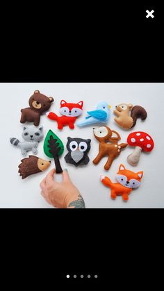 Felt woodland animals for a mobile!