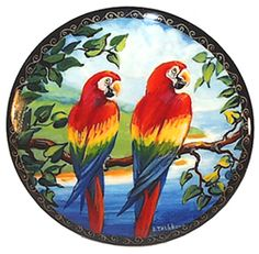 SCARLET MACAWS Painted in St. Petersburg, Russia Bird Paintings On Canvas, Easy Canvas Painting, Animal Paintings, Painting & Drawing, Canvas Art, Animal Stencil, Art Thou, Peacock Drawing, Painting Gallery