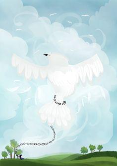 """Chained Spirit"", Katja Potokar on ArtStation at https://www.artstation.com/artwork/qoKLR"