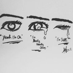Show inside mind like how the tears are stopped behind the eyes