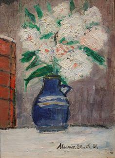 Maurice Utrillo: Vase of Flowers Georges Seurat, Flower Vases, Flower Art, Potted Flowers, Art Flowers, Pierre Bonnard, Auguste Herbin, Felix Vallotton, Maurice Utrillo