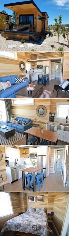 Escalante Escapes Tiny House Village, Tiny House Cabin, Tiny House Living, Tiny House Plans, Tiny House Design, Small Living, Cottage Living, Minimaliste Tiny House, Casas Containers