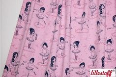 Ballerina Balettmädchen Pink Mottled Lillestoff Organic Cotton Stretchjersey Fabric by Susalabim