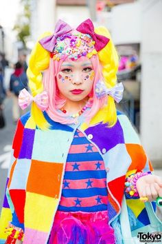 Colorful Harajuku Cape | Japanese fashion | Pinterest