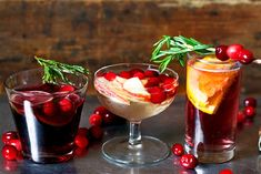 Celebrate the season in style with these three fruity drinks fit for any holiday party.