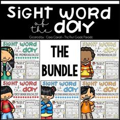 The printables in this packet are designed to help our kids focus on recognition and spelling one sight word at a time. Kids will also break down each word by looking at the number of letters, vowels, consonants, and syllables contained in each as well as compare them to other sight words based on the number of letters (more/same/less). Our kids will then have the opportunity to make connections between sight words through rhymes.