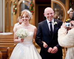 An Elegant 'Audrey Hepburn', 50′s Inspired Winter Wedding | Love My Dress® UK Wedding Blog