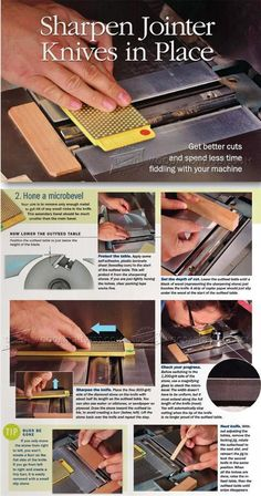 Sharpening Jointer Knives in Place - Sharpening Tips, Jigs and Techniques | WoodArchivist.com