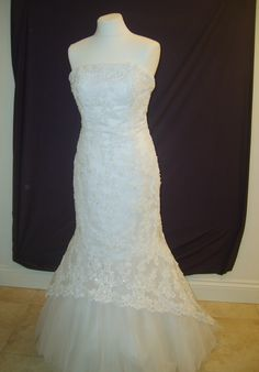 Gorgeous Forever Yours fishtail bridal gown. Size 10/12.  £400.  Now sold.