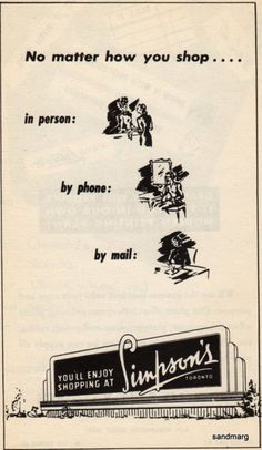 1951 Ad for Simpson's
