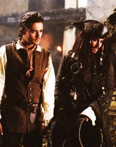 Pirate of the Caribbean Will Turner & Jack Sparrow Captain Jack Sparrow, Hector Barbossa, On Stranger Tides, Elizabeth Swann, Images Disney, Johny Depp, Pirate Life, Raining Men, Orlando Bloom