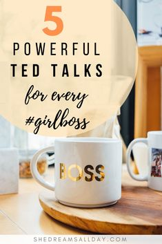 My favorite top 5 powerful TED talks for every out there, personal development, success and how to be the best version of yourself. Self Development, Personal Development, Leadership Development, Best Ted Talks, Detox Kur, Life Coach Training, Motivational Words, Online Entrepreneur, Career Advice