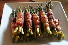 Bacon-Wrapped Asparagus | 50 Thanksgiving Foods Full Of Bacon