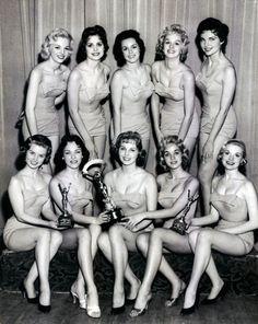 Miss Photo Flash, contestants, vintage, ladies, 1950s.