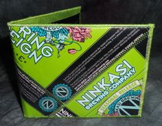 BiFold Wallet from Repurposed Ninkasi Spring Reign Ale beer labels by squigglechick, $30.00