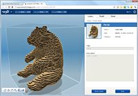 Use 3D modeling software (Autodesk 123D) to turn your 3D models into sliceable and foldable projects suitable for 2D materials.