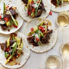 These supersimple marinated short ribs cook in just five minutes. Get the recipe from Food & Wine.