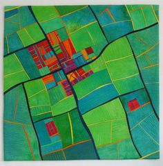 "Alicia Merrett ""Mapping Earth"", 24"" by 24"""