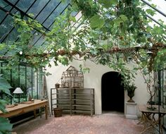 I feel like we should have a sunroom/porch area that's actually a greenhouse. Yes.