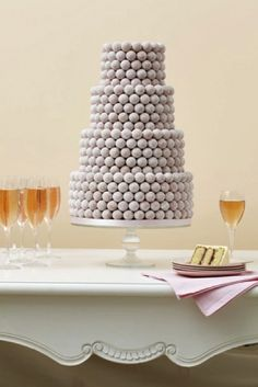 "Pink Champagne Truffle Cake - Cheers! Posted from ""over the top wedding cakes"" on The Daily Meal.com"