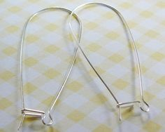 Sterling Silver Earwires 48mm Kidney Xtra Large 1 , $3.50