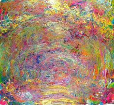 Claude Monet-Path under the Rose-trellises -1924