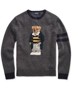 cfb4d7a1a40 Polo Ralph Lauren Men s Polo Bear Sweater - Grey Heather XL Ralph Lauren  Pullover