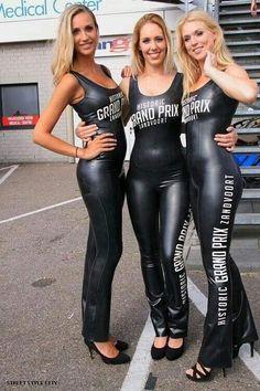 Leather Catsuit, Leather Pants, Pantalon Vinyl, Monster Energy Girls, Pit Girls, Promo Girls, Umbrella Girl, Leder Outfits, Latex Girls