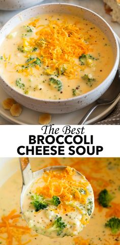 Best Broccoli Cheese Soup, Cheesy Broccoli Soup, Fresh Broccoli, Recipe For Cheddar Broccoli Soup, Broccoli And Carrot Soup, Cheese Soup Recipe Easy, Cheddar Cheese Soup, Cheese Burger Soup Recipes, Cheese Sauce